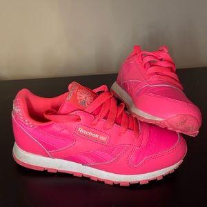 Pink Reebok shoes girls size 13